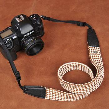 SLR Camera Strap DSLR Camera Strap Camera Strap Brown cubes camera strap